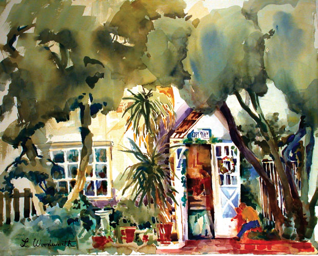 Watercolor by Woodworth of the Casita